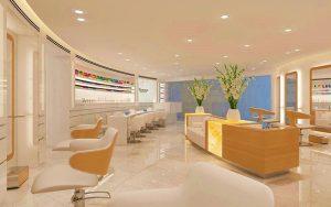 طراحی دکوراسیون سالن زیبایی